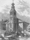 SOHO. St.Anne's, Soho in 1840. London c1880 old antique vintage print picture